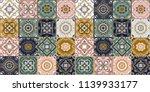 talavera pattern.  azulejos... | Shutterstock .eps vector #1139933177