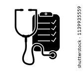 stethoscope black and white...   Shutterstock .eps vector #1139935559