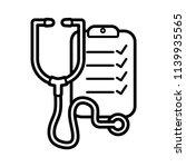 stethoscope line art icon...   Shutterstock .eps vector #1139935565