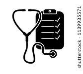 stethoscope black and white...   Shutterstock .eps vector #1139935571