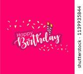 happy birthday vector template... | Shutterstock .eps vector #1139935844