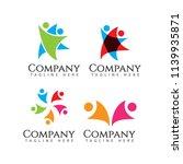 human logo company vector...   Shutterstock .eps vector #1139935871