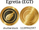 set of physical golden coin... | Shutterstock .eps vector #1139942597