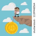 cartoon businessman staggering...   Shutterstock .eps vector #1139948564