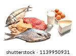 nutritional pyramid  meat  fish ... | Shutterstock . vector #1139950931