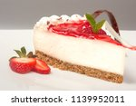 strawberry cheesecake dessert | Shutterstock . vector #1139952011