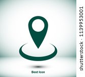 map point vector icon  stock... | Shutterstock .eps vector #1139953001