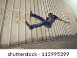 Young Man Falling From A...