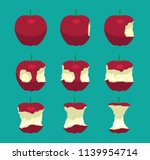 apple eating sequence vector... | Shutterstock .eps vector #1139954714