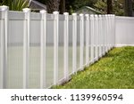vinyl fence solid privacy  | Shutterstock . vector #1139960594