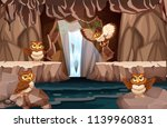 owl living in the water cave... | Shutterstock .eps vector #1139960831