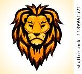 vector lion head design on... | Shutterstock .eps vector #1139961521