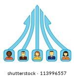 team work concept | Shutterstock .eps vector #113996557