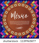 mexican traditional clay plate...   Shutterstock .eps vector #1139965877