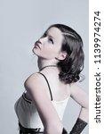 beautiful young female model...   Shutterstock . vector #1139974274