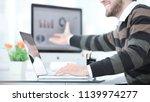 businessman working with...   Shutterstock . vector #1139974277