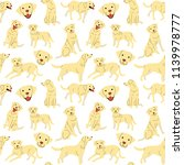 labrador pattern dog poses dog... | Shutterstock .eps vector #1139978777