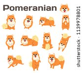 pomeranian illustration dog... | Shutterstock .eps vector #1139978801