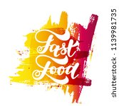fast food hand lettering and...   Shutterstock .eps vector #1139981735