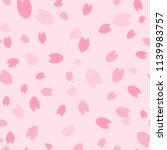 sakura pattern  background ... | Shutterstock .eps vector #1139983757