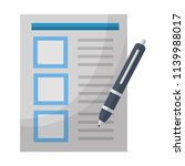 document office fountain pen... | Shutterstock .eps vector #1139988017