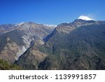 snow mountain with blue sky... | Shutterstock . vector #1139991857