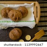 little brown breads rustic with ... | Shutterstock . vector #1139992667