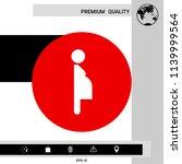 pregnant woman icon | Shutterstock .eps vector #1139999564