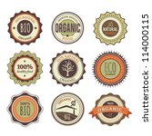 set of organic badges | Shutterstock .eps vector #114000115