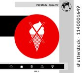 no ice cream symbol icon   Shutterstock .eps vector #1140001649