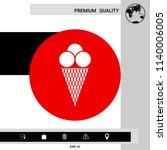 ice cream icon   Shutterstock .eps vector #1140006005