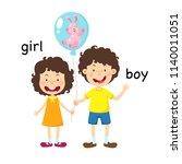 opposite boy and girl vector... | Shutterstock .eps vector #1140011051