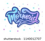 Hand Sketched Mermaid Text....