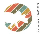 triceratops design. vector... | Shutterstock .eps vector #1140016124