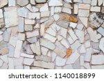 texture of natural cut stone | Shutterstock . vector #1140018899