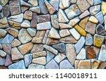 texture of natural cut stone | Shutterstock . vector #1140018911
