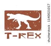 dinosaur t rex design. vector... | Shutterstock .eps vector #1140021017