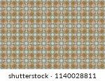 portuguese tiles in green  blue ...   Shutterstock . vector #1140028811