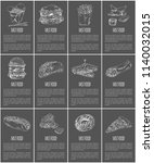 fast food posters set meal...   Shutterstock .eps vector #1140032015