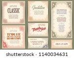 vector set for creating... | Shutterstock .eps vector #1140034631