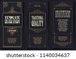 vector set for creating... | Shutterstock .eps vector #1140034637