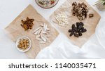a collection of natural raw... | Shutterstock . vector #1140035471