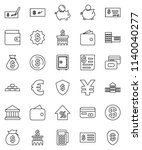 thin line vector icon set  ... | Shutterstock .eps vector #1140040277