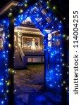 Blue Christmas Light Archway I...