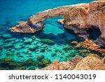 beautiful natural rock arch... | Shutterstock . vector #1140043019