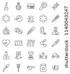 thin line vector icon set  ... | Shutterstock .eps vector #1140043247