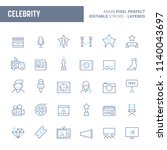 celebrity   simple outline icon ... | Shutterstock .eps vector #1140043697