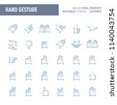hand gesture and symbols  ... | Shutterstock .eps vector #1140043754