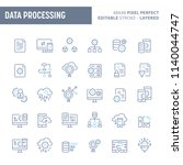 data processing  manipulation ... | Shutterstock .eps vector #1140044747