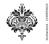 damask graphic ornament. floral ... | Shutterstock .eps vector #1140054614